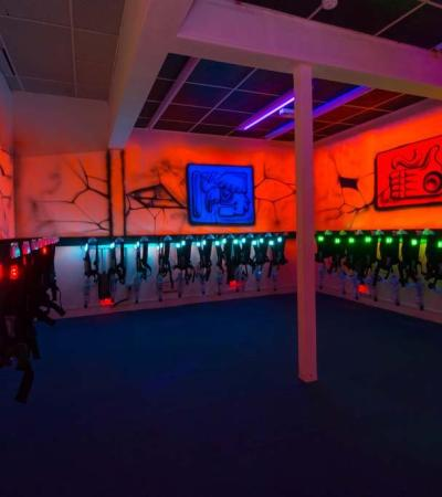 Laser tag equipment at Laser World in Bedford