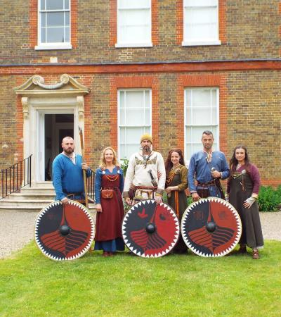 Staff dressed as historic characters at Museum of East Anglian Life in Stowmarket