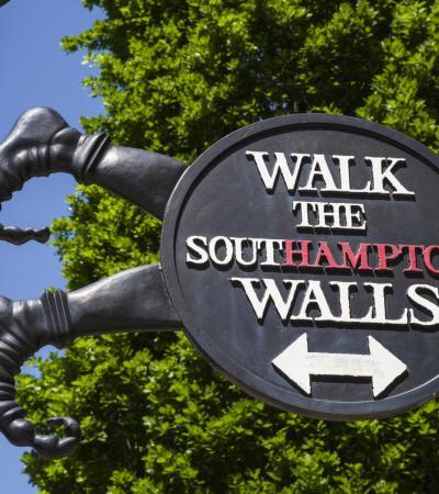 Sign at Historic Southampton Guided Walks
