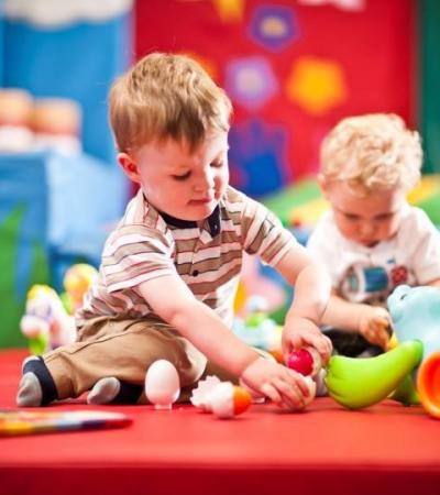 Toddlers playing at Wacky Warehouse - Bridge Builder in Telford