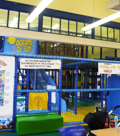 Indoor soft play frame at Oceans of Fun Indoor Play Centre in Hucknall