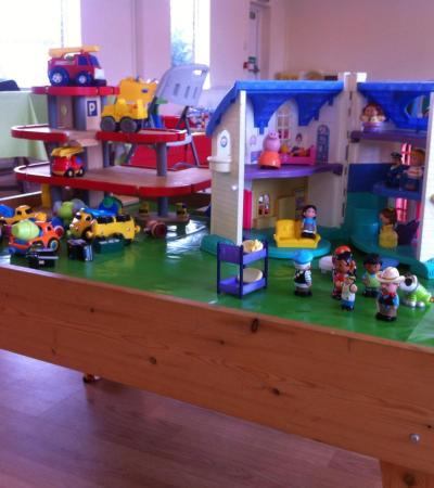 Kid's house play set at Wizzkidz Play Centre in Surrey