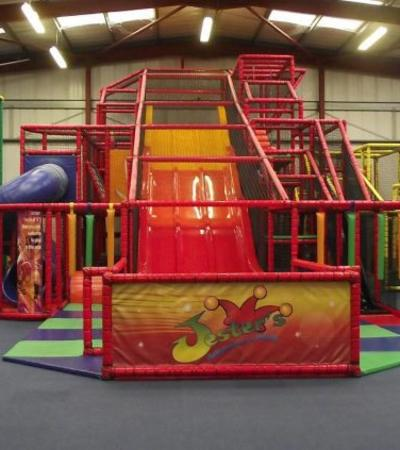 Indoor soft play frame at Jesters Adventure Play in Calne