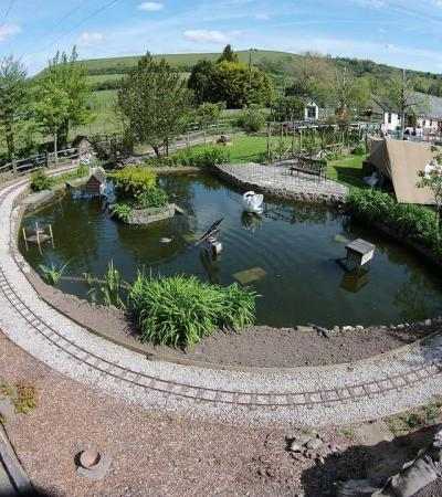 Lake at Elham Valley Railway Museum in Folkestone