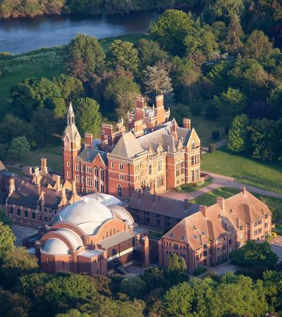 Aerial view of Kelham Hall and Country Park