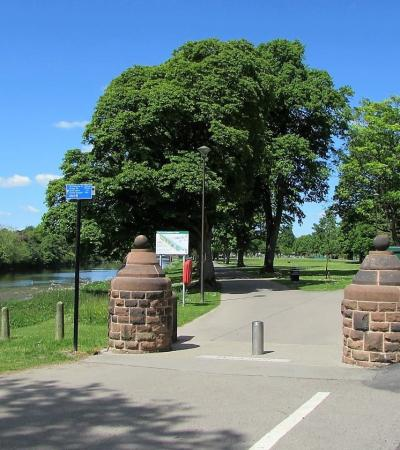 Entrance to Dock Park in Dumfries
