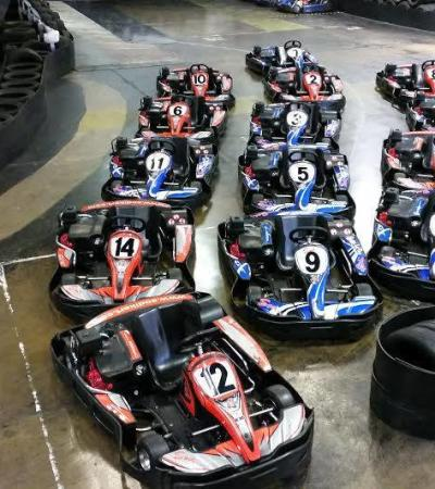 Go karts at The Race Club UK in Corby