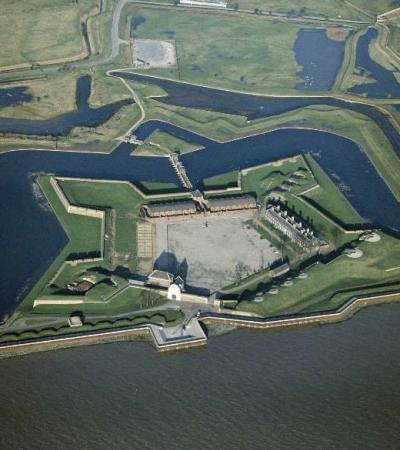 Aerial view of Tilbury Fort