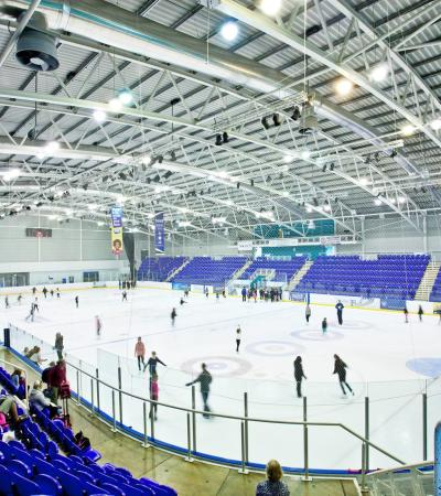 People ice skating at Ice Sheffield