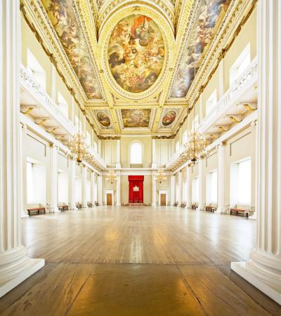 Inside view of Banqueting House in London