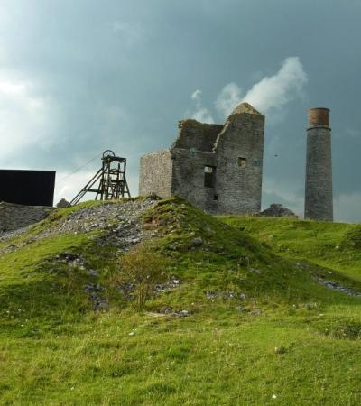 Ruins at Peak District Lead Mining Museum in Matlock
