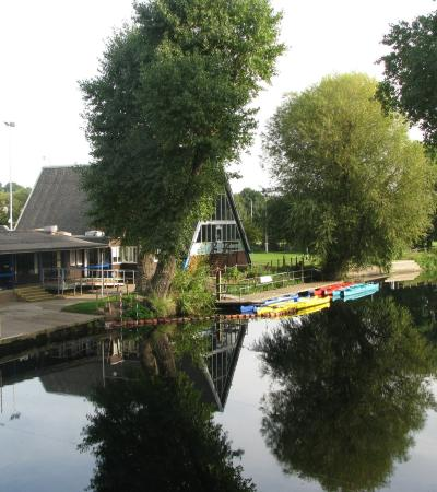 Boating lake at Leicester Outdoor Pursuits Centre