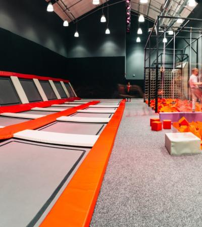 Trampolines at Salt Hill Activity Centre in Slough