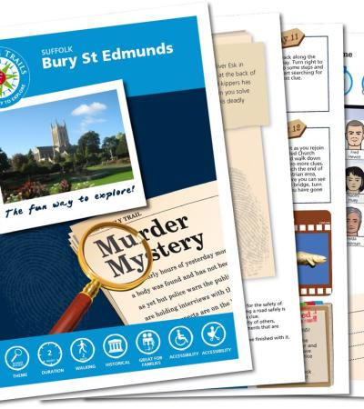 Map and booklet for The Bury St Edmunds Mystery Treasure Trail