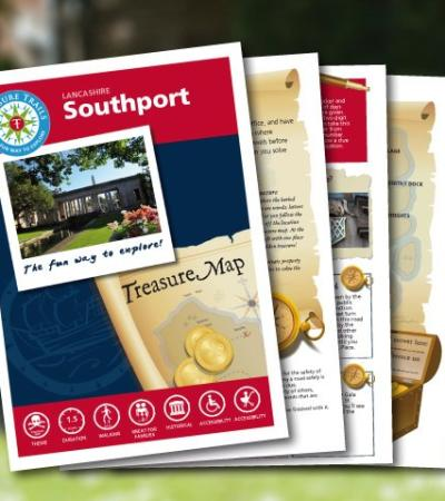 Map and booklet for The Southport Treasure Trail