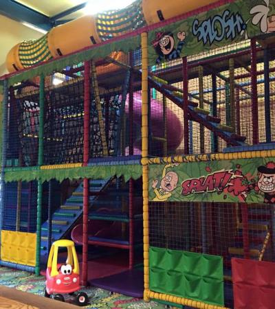 Indoor soft play frame at The Hampton Brewers Fayre in Peterborough