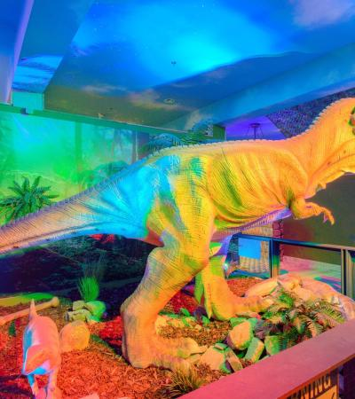 T-Rex model at Jurassic Journey in Great Yarmouth