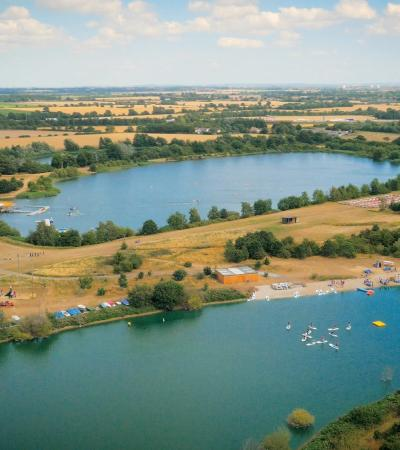 Aerial view of Stubbers Adventure Centre in Upminster