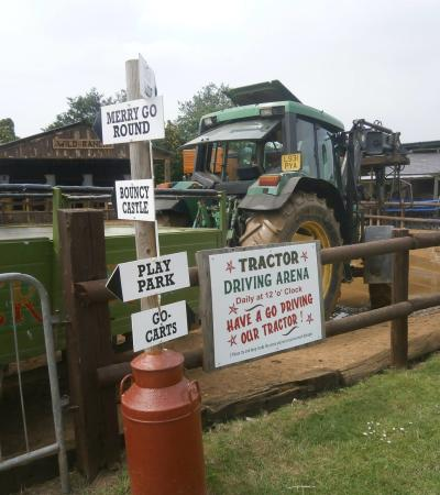 Tractor driving arena at Dorset Heavy Horse Farm Rescue Centre in Verwood