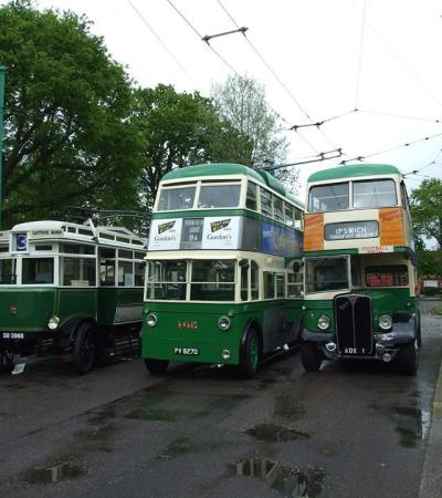 Trolley busses at Ipswich Transport Museum