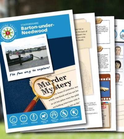 Map and booklet for The Barton under Needwood Treasure Trail