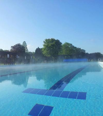Outdoor swimming pool at Jubilee Park Woodhall Spa