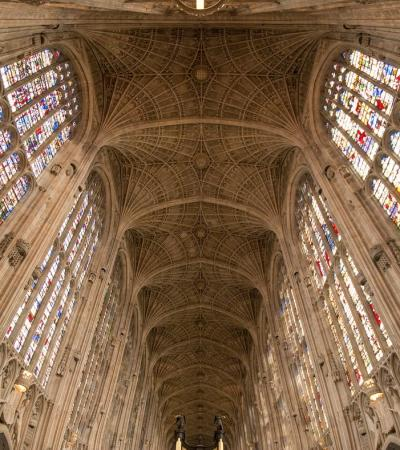 Ceiling of Kings College Chapel in Cambridge