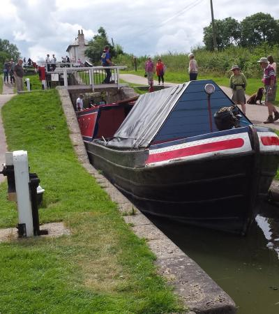 Canal boat at Foxton Canal Museum in Market Harborough