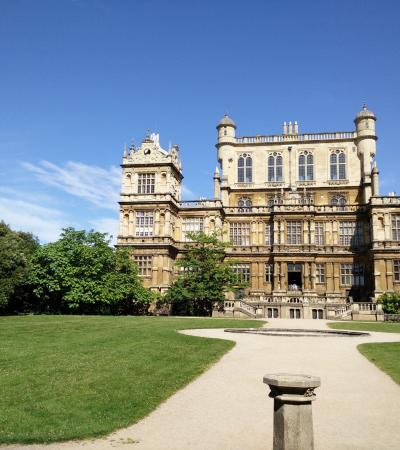 Outside view of Wollaton Hall and Park in Nottingham
