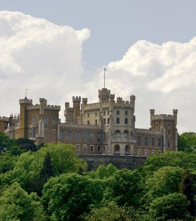 Outside view of Belvoir Castle in Grantham