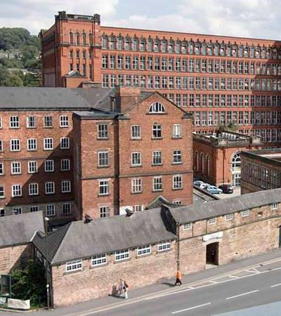 Outside view of Strutts North Mill in Belper