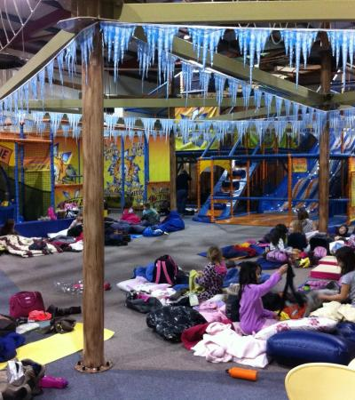 Kids having sleepover at Adventure Kidz in Aylesford