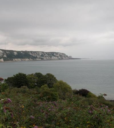 Hill top view of coast at Trial-a-Bite Rock and Fossil Tours in Bexleyheath