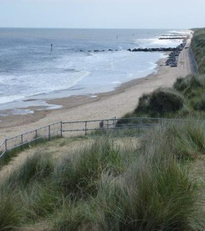 A view of Waxham Beach, Waxham