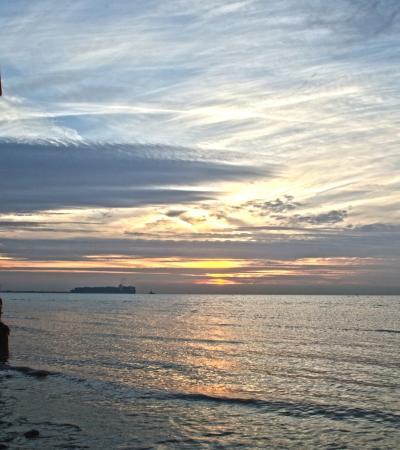 Sunrise at Dovercourt Bay Beach in Harwich