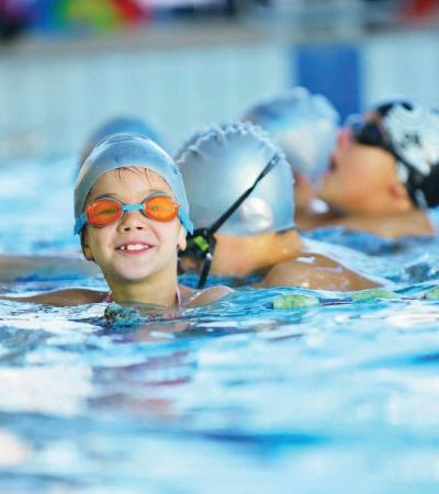 Kids in swimming pool at Dunstable Leisure Centre