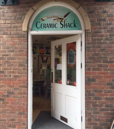 Entrance to Ceramic Shack Pottery Painting Studio in Horsham