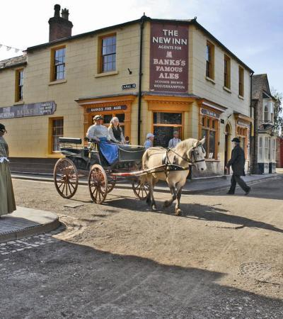 Horse and carriage at Ironbridge Gorge Museums in Coalbrookdale