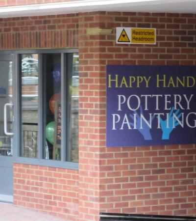 Outside view of Happy Hands Pottery Painting in Haslemere