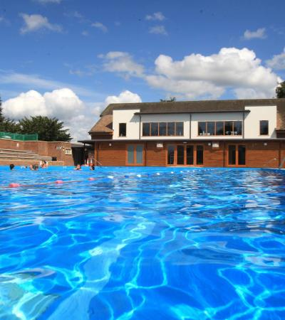Outdoor Swimming pool at Wycombe Rye Lido in High Wycombe