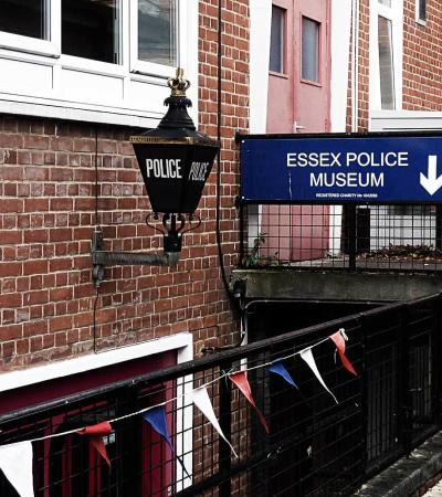 Entrance to Essex Police Museum in Chelmsford