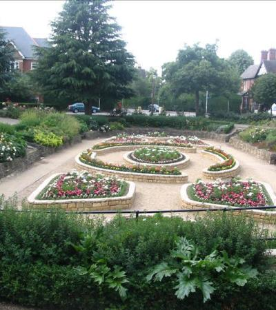 Garden at Central Park in Peterborough