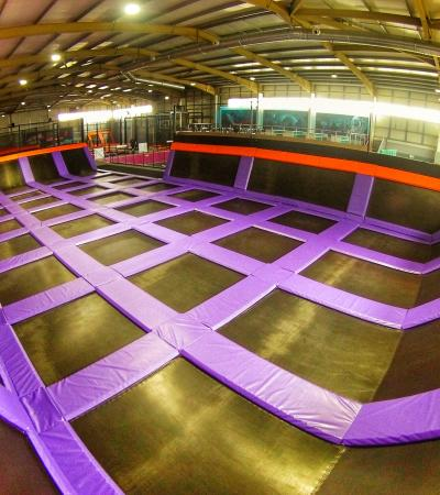 Trampolines at Planet Bounce Corby
