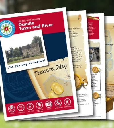 Maps and booklet for The Oundle Treasure Trail