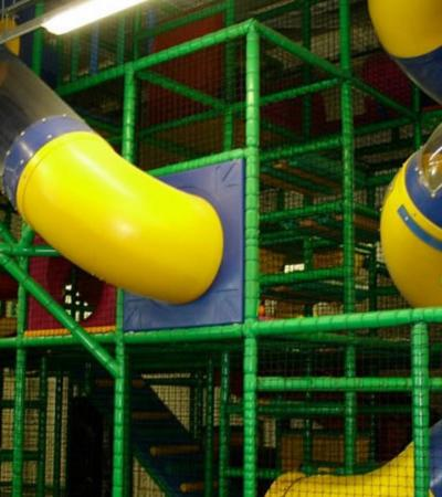 Slides and soft play area at Cookies Island in Beckton
