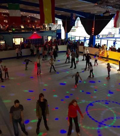 People rollerskating at Simply Skate in Rotherham