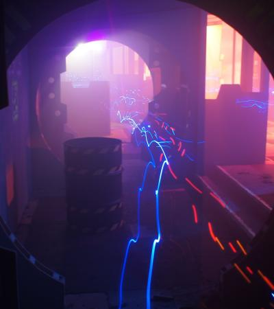 Laser beams at Quasar Elite Bromley