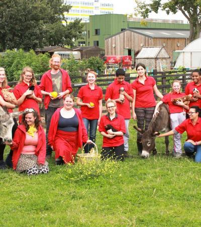 Staff at Stepney City Farm