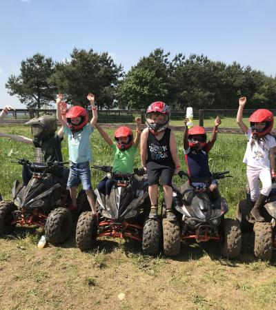 Kids at Quadrenalin Quadbiking Centre in Milton Keynes