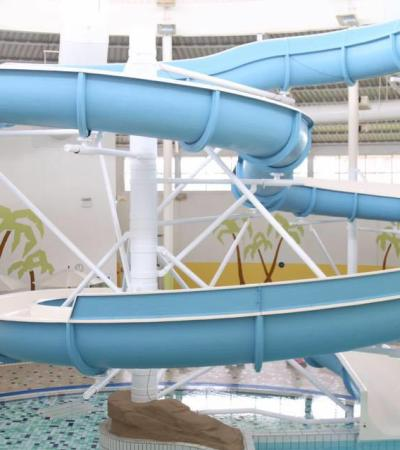 Water slide at Harpers at Grantham Meres in Grantham